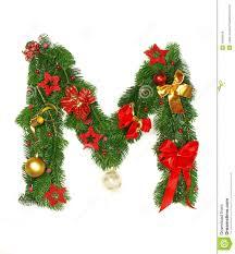 christmas alphabet letter m royalty free stock photos image