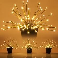warm white led twinkle lights gold starburst led lighted branches warm white twinkle lights 3 pc
