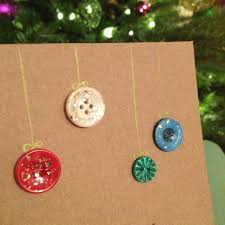 diy glitter button christmas cards