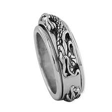arkadia wedding band sterling silver spinner ring bands jewelry