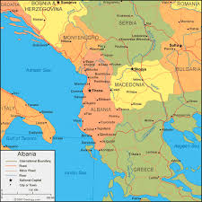 greece map political albania map and satellite image