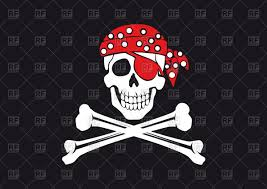 skull and crossbones on black background pirate sign royalty free