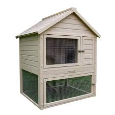 Sale Rabbit Hutches New Age Pet Ecoflex 2 7 Ft X 4 Ft Huntington Townhouse Rabbit