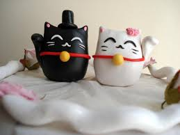 cat wedding cake topper lucky cat cake toppers wedding decorations cake decor wedding cake
