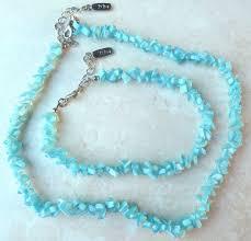 vintage blue stone necklace images Vintage blue stone chip necklace and bracelet set by zodys jpg