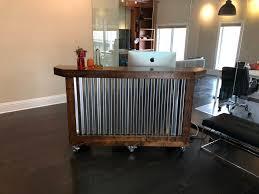 Mobile Reception Desk The Provincial Desk 6 Foot Mobile Corrugated Metal Reception Desk