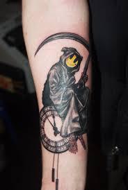 banksy tattoo grin reaper black rabbit