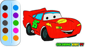 coloring pages little red car u0026 drawing for children how to