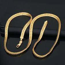 trendy gold chain necklace images Trendy 18k gold plating statement necklace men 6mm chunky jpg