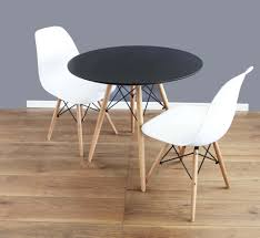 White Circle Table by White Round Dining Table And Chairs Set 80cm U0026 2 Eames Dsw White