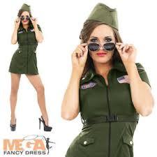 Military Halloween Costumes Women Aviator Costume Hat 80s Air Force Uniform Womens Military