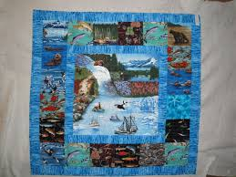 theme quilt alaska themed wallhanging quilt