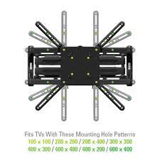 tv wall mount 400 x 400 sanus vuepoint flf118 full motion wall mounts mounts