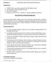 Resume Format For Physiotherapist Job by Medical Officer Job Description Detailed Job Description