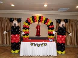 decor mickey mouse party decorations with balloon decorations in