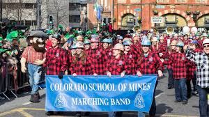 colorado of mines marching band featured in dublin u0027s st