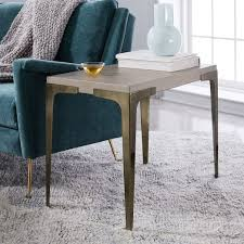 Concrete Side Table Brass Concrete Side Table West Elm