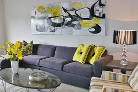 decor living room design with painting on canvas and sectional