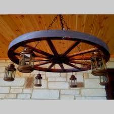 Diy Wagon Wheel Chandelier Sold Lb 3984 Wagon Wheel Chandelier W Glass Hurricane Shades