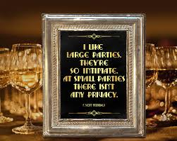 Great Gatsby Themed Party Decorations Roaring Twenties Party Decoration F Scott Fitzgerald Quote