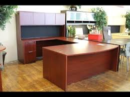 u shaped desk with hutch youtube