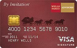 Wells Fargo Design Card Wells Fargo Advisors By Invitation Visa Signature Card Review Us