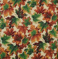 fall leaves fabric cotton halloween fall a cranston home