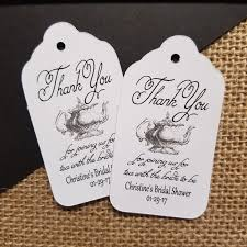 bridal shower favor tags thank you for joining us for tea with the to be bridal