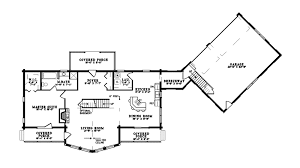log home floor plans with basement bluff rustic log home floor from houseplansandmore com
