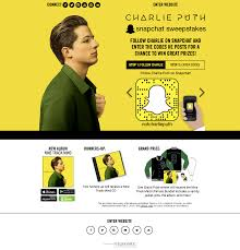 application spotlight charlie puth snapchat sweepstakes 2