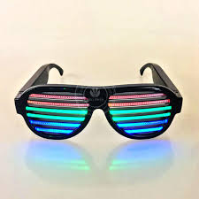 party sunglasses with lights music sound activated led light party glasses usb rechargeable