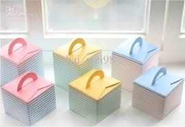 pink blue yellow cupcake box portable paper cake boxes bake