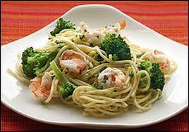 spaghetti with garlicky shrimp and broccoli the washington post