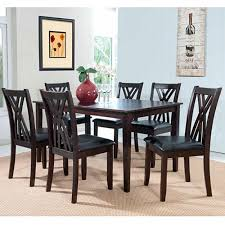 espresso dining room set 7 pc dining room set unclaimed freight co