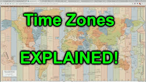 United States Time Zone Map by World Time Zones Explained Youtube