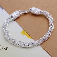 silver bracelet hand images Cuff bracelets bangles for women pulseras silver plated men jpg