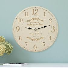 personalized anniversary clock personalized anniversary gifts for from personal creations