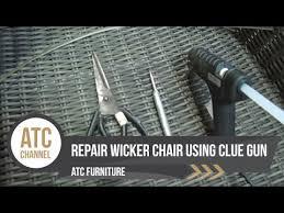 how to repair resin wicker chairs using glue gun atc furniture