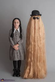 wednesday addams and cousin it halloween costume idea picmia
