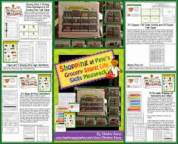 Shopping Worksheets Shopping At Pete U0027s Grocery Store New Functional Life Skills