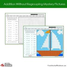 addition with and without regrouping 2nd grade addition no regrouping mystery pictures coloring