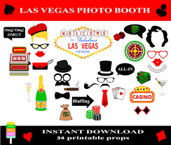 photo booth las vegas las vegas photo booth props 34 pieces printable casino props las