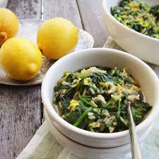 recipe for greek spanakorizo spinach and rice