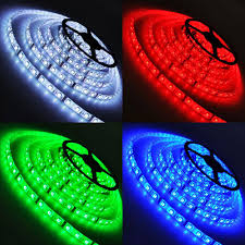 rgb led light strips multi color waterproof 5 meter flexible led light strip w remote