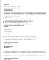 Resume Sample For Business Development Executive by Sample Business Development Executive Resume 8 Examples In Word