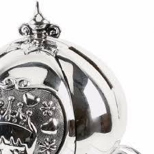 silver plated baby gifts princess cinderella carriage money box by bambino at juliana