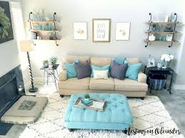 Gray And Beige Living Room turquoise and grey living room design home ideas pictures