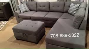 Grey Sectional Sofa Grey Sectional Sofa With Reversible Chaise Brand New Free