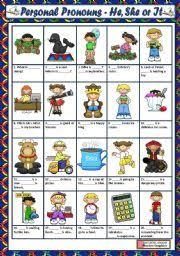 english worksheets personal pronouns worksheets page 5