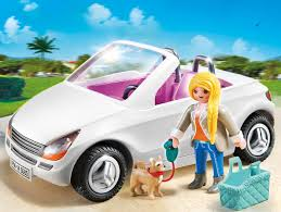 cartoon convertible car playmobil 5585 city life luxury mansion convertible car with woman
